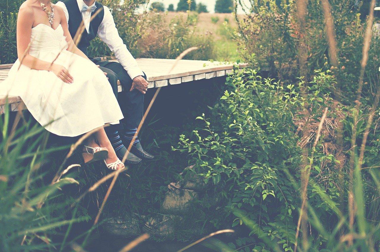 bride and groom, couple, wedding